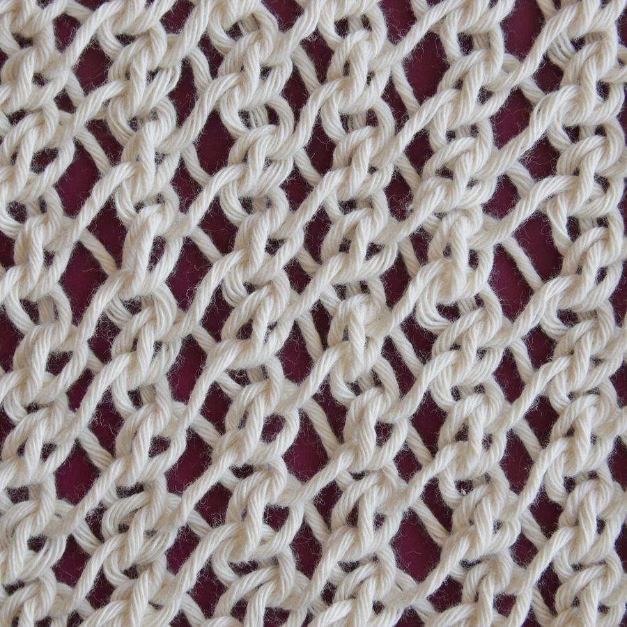 wzór prostej siatki - Ścieg prostej siatki (simple lace stitch)
