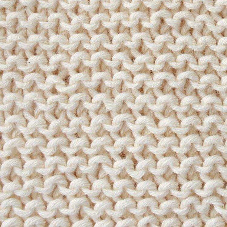 ścieg gładki lewy 5 prostych ściegów na drutach