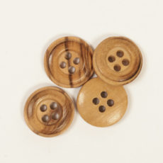 Guzik drewniany DROPS - cedr, 15 mm