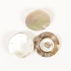 Guzik na stopce DROPS - biały, 15 mm
